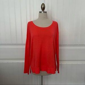 H&M Orange Lightweight Crewneck Sweater